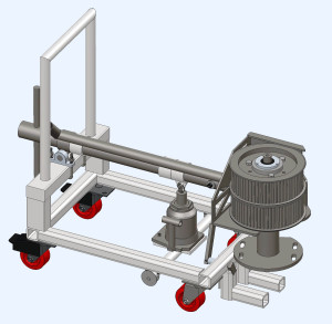 Idler Pulley Removal Cart